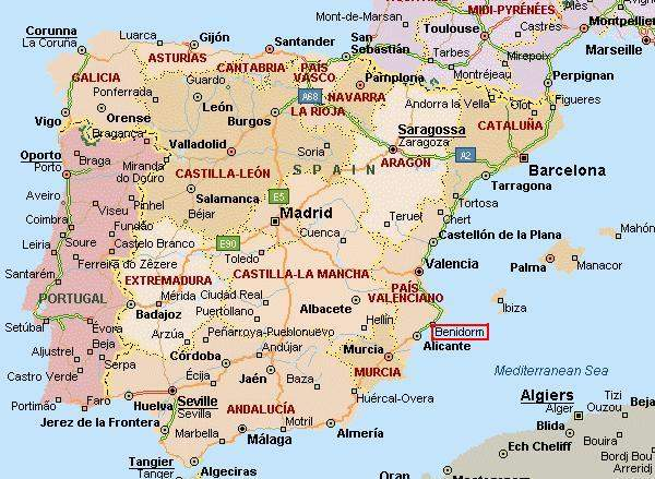 benidorm mapa espanha Report] Benidorm | Portal das Viagens benidorm mapa espanha