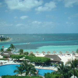 Praia do hotel oasis-cancun