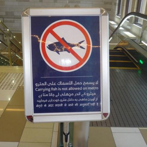 Dubai Metro Sign