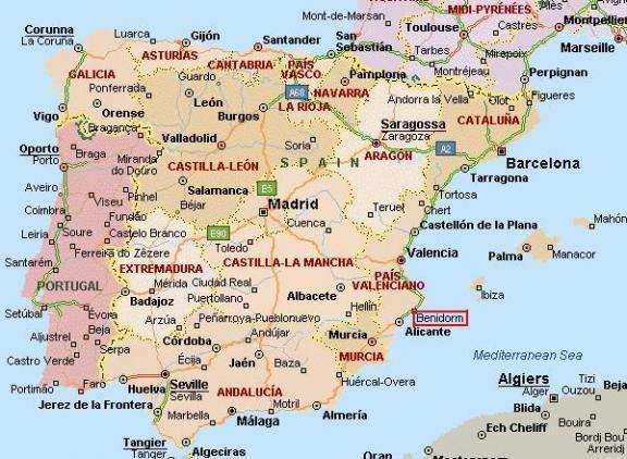 mapa iberico Mapa Peninsula Ibérica | Portal das Viagens mapa iberico